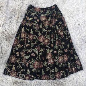 Vintage Scott McClintock Velvet Metallic Skirt